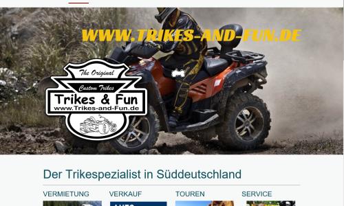 Trikes & Fun - Ihre Trikevermietung in Süddeutschland, Trike kaufen, Quad kaufen , Trike mieten, geführte Touren, Rundum-Full-Service und Ersatzteile, Trike kaufen Deutschland