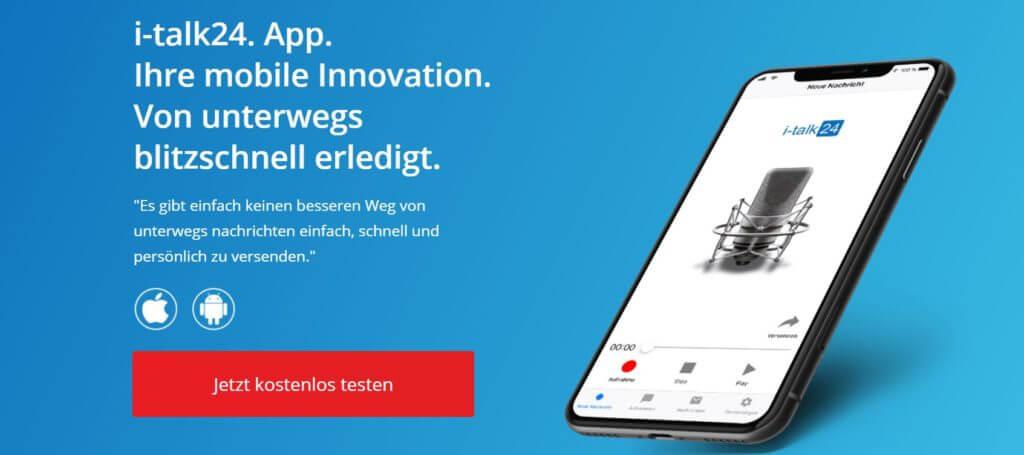i-talk24 app, t-talk24 sprachnachrichten, i-talk24 norbert kloiber, i-talk24 top effektiv, top effektiv produkte, top effektiv review