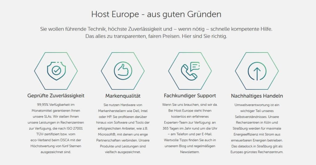 Host Europe Erfahrungen Host Europe Test Bester Deutscher Hoster